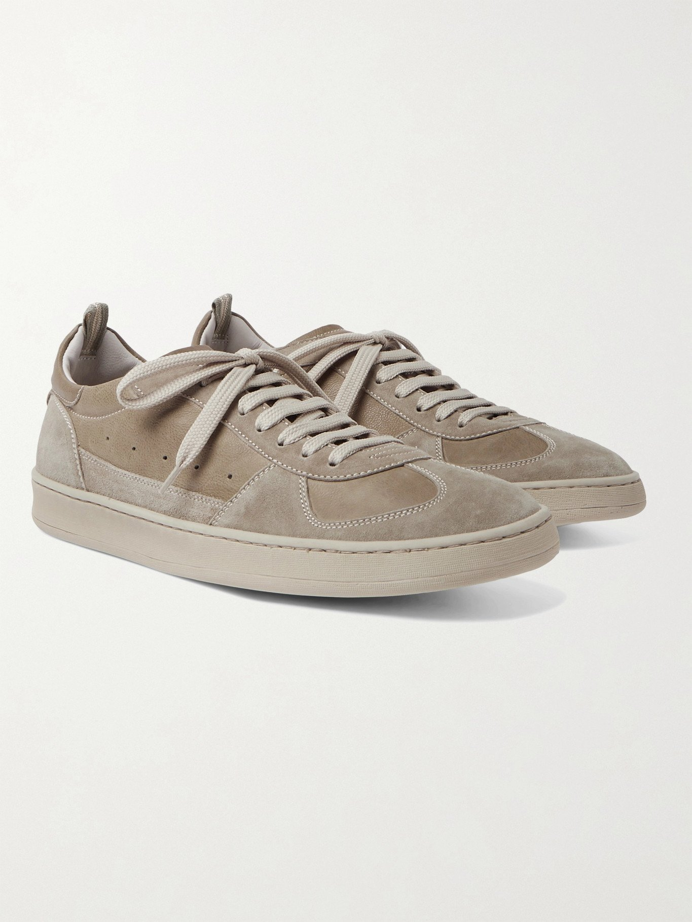Photo: OFFICINE CREATIVE - Kadette Suede and Leather Sneakers - Neutrals