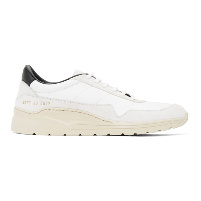 Photo: Common Projects White and Black Cross Trainer Sneakers