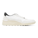 Common Projects White and Black Cross Trainer Sneakers