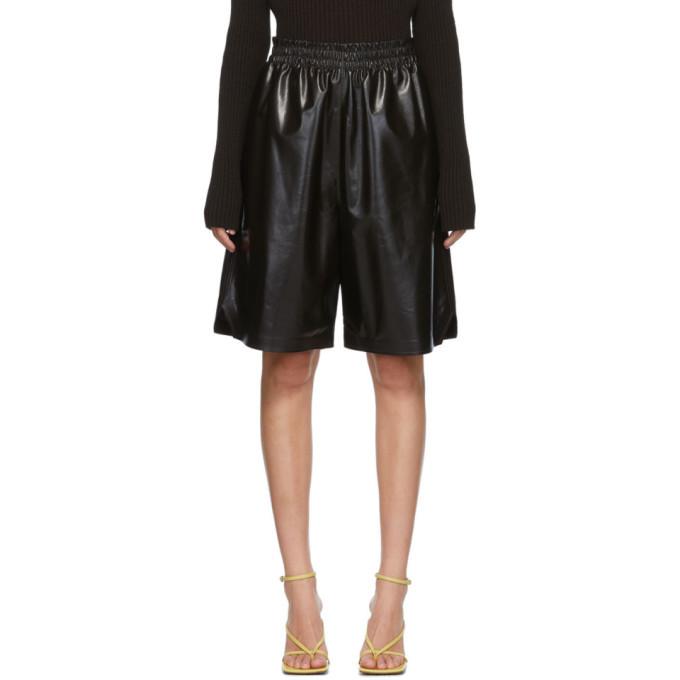 Photo: Bottega Veneta Brown Leather Shorts