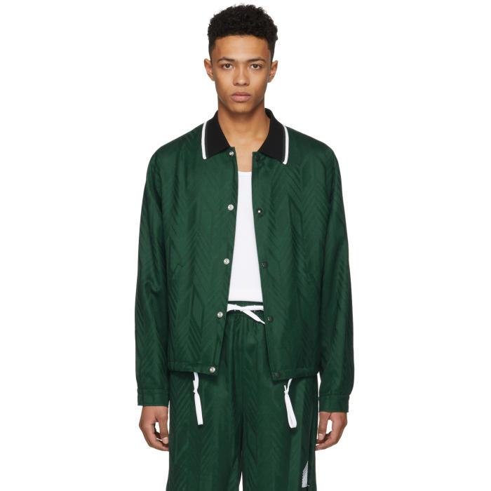 Photo: Alexander Wang Green Wool Coachs Jacket