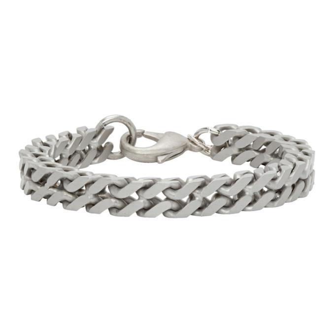 Photo: Raf Simons Silver Square Chain Bracelet
