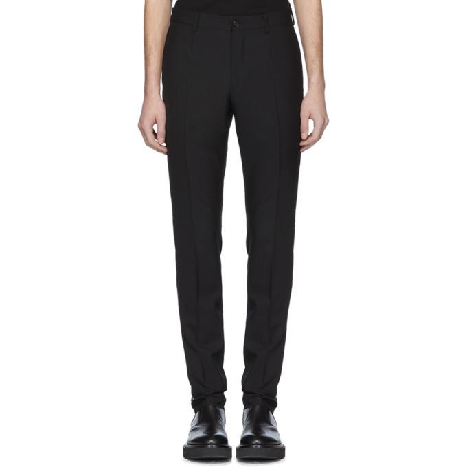 Versace Black Swarovski Evening Trousers