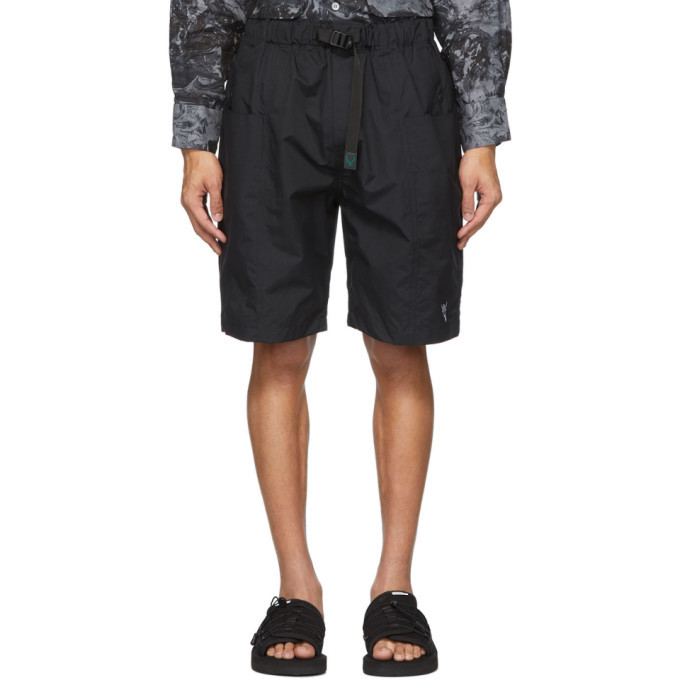 Photo: South2 West8 Black Belted Center Seam Shorts