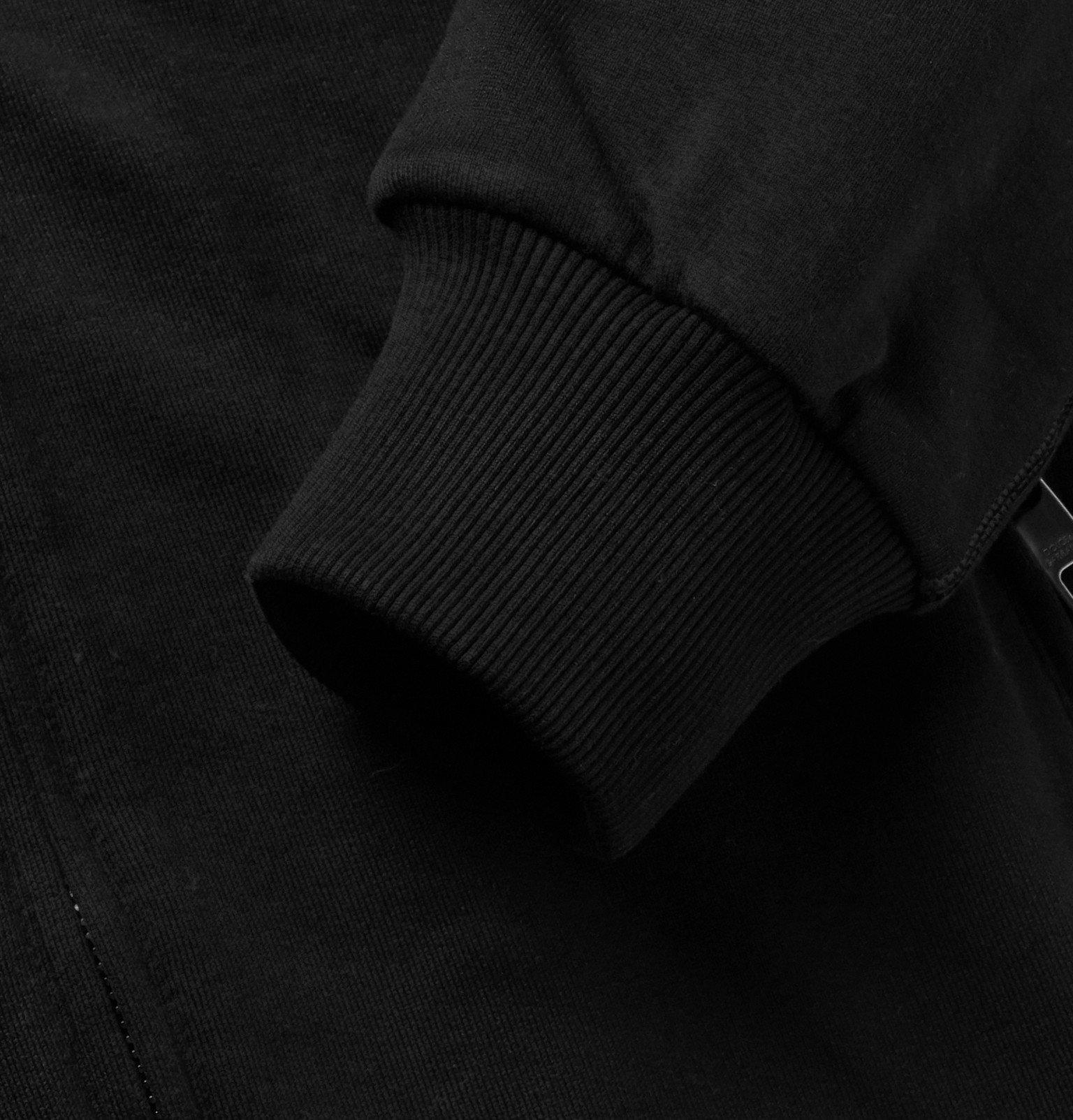 Dolce & Gabbana - Loopback Cotton-Jersey Zip-Up Hoodie - Black