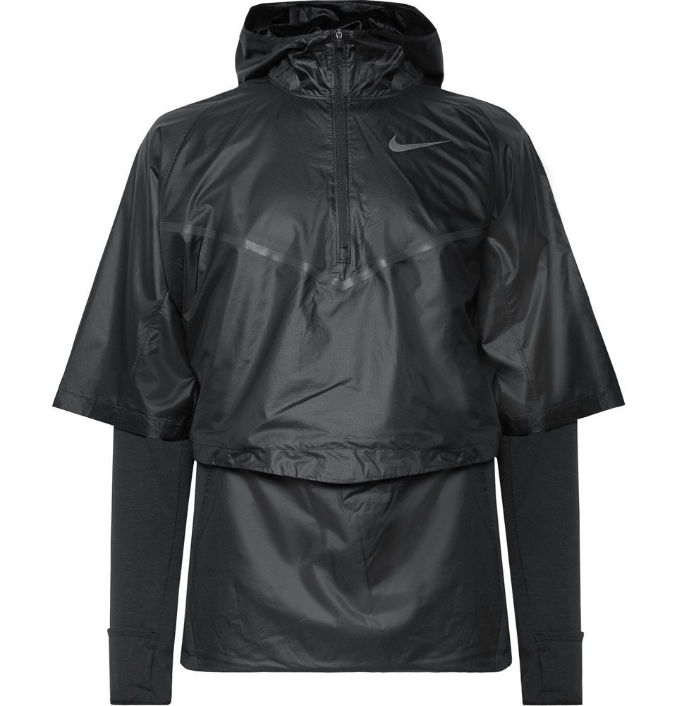 Nike Running - Sphere Transform Layered Ripstop and Therma Dri-FIT Hooded Top - Men - Black