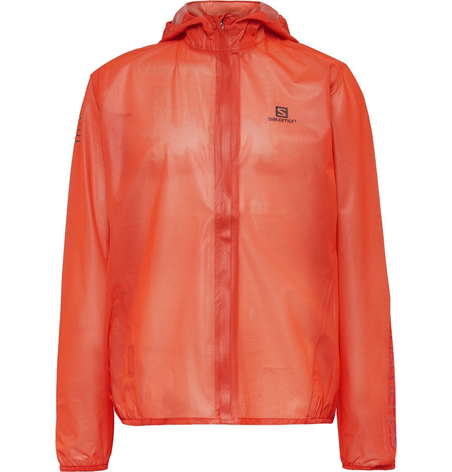 Photo: Salomon - Bonatti Packable AdvancedSkin Dry Hooded Jacket - Red