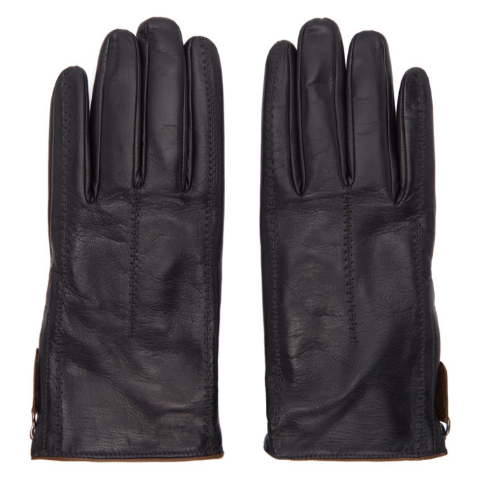 Photo: Giorgio Armani Black Leather Gloves