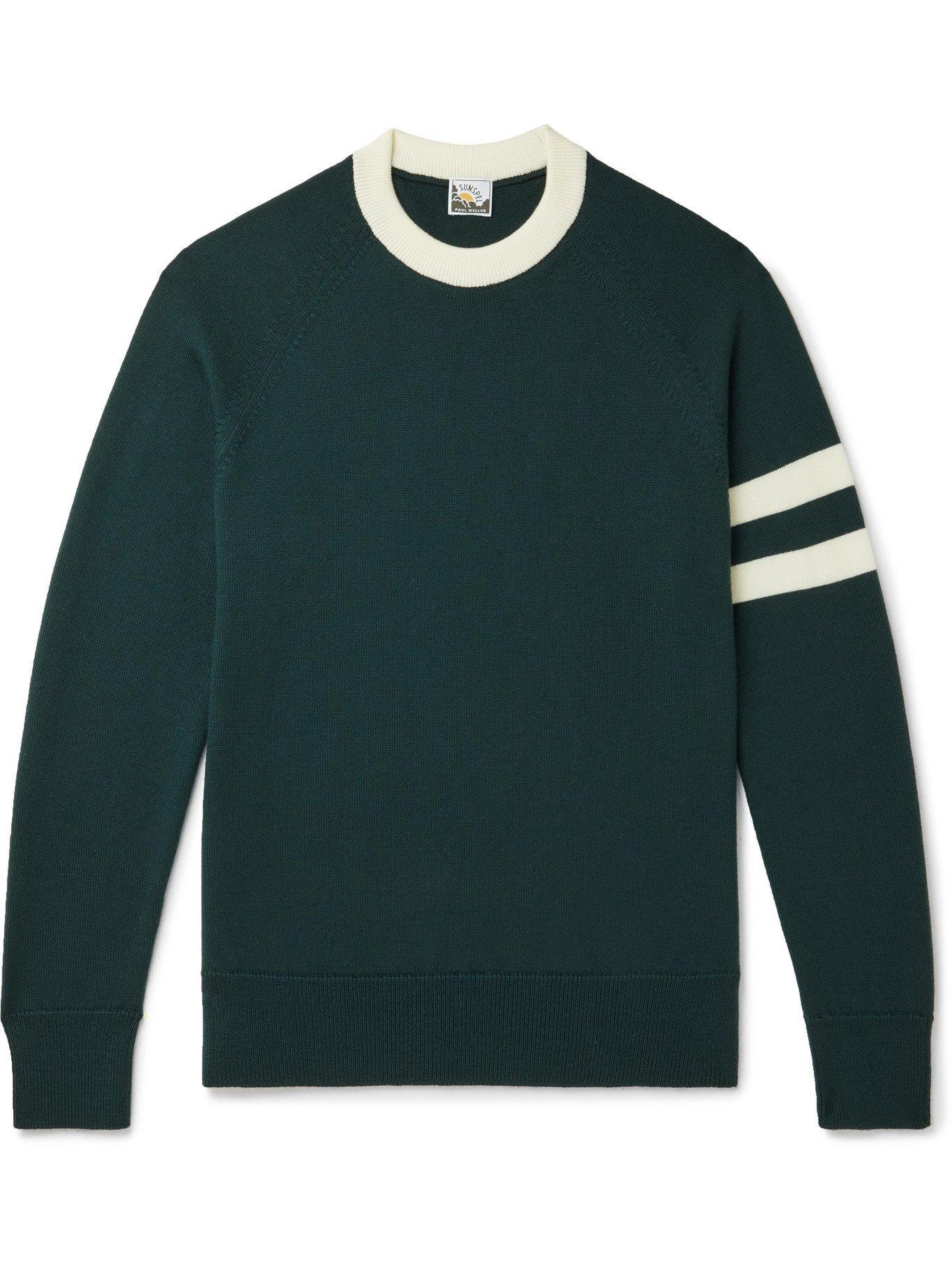 SUNSPEL - Paul Weller Striped Merino Wool Sweater - Green