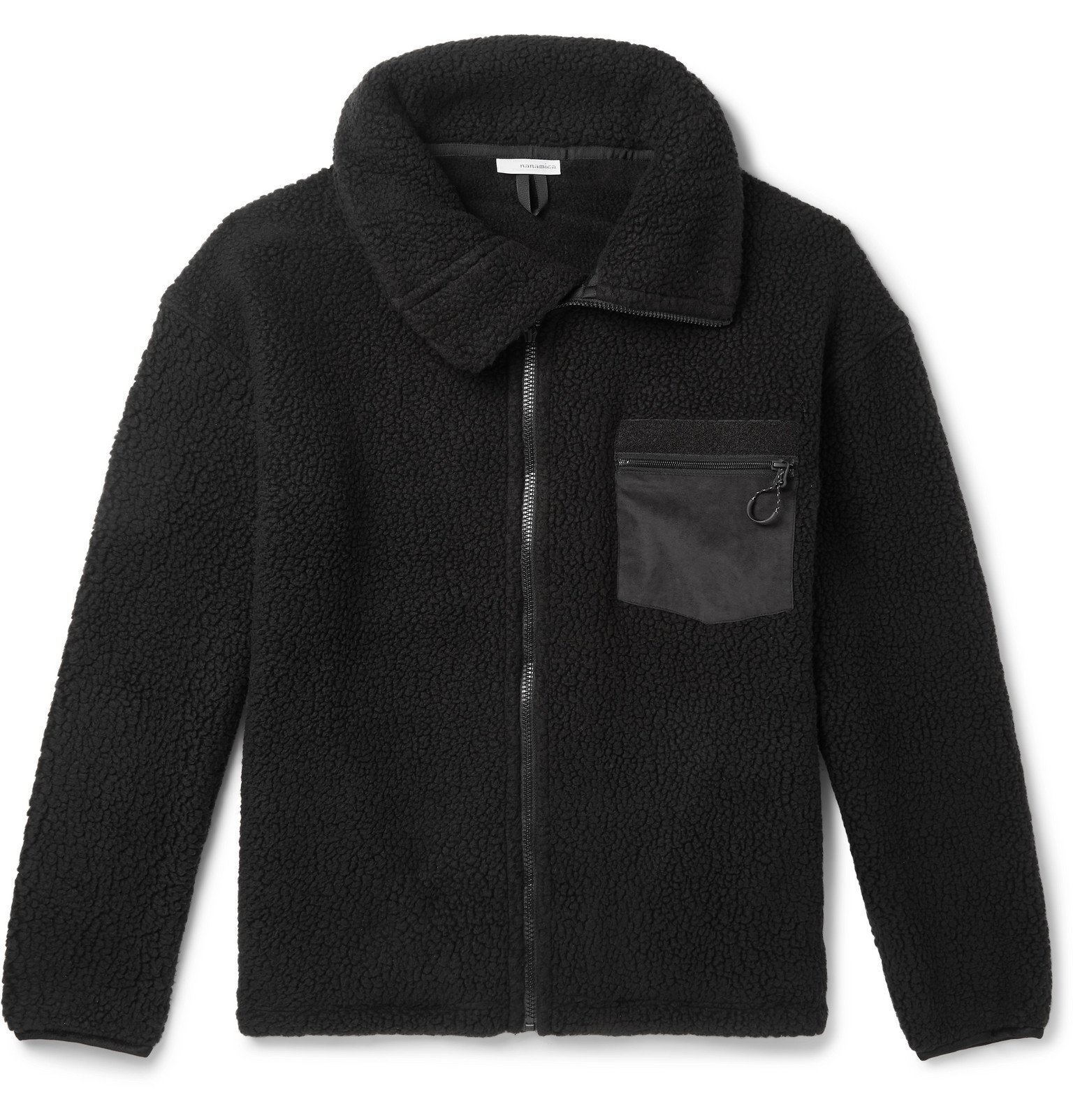 Photo: nanamica - POLARTEC Fleece Zip-Up Jacket - Black