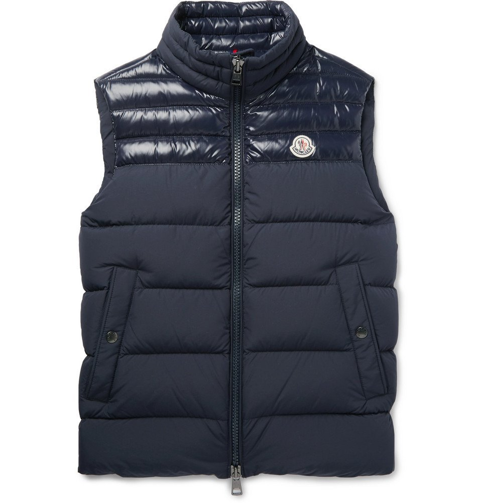 Photo: Moncler - Slim-Fit Quilted Shell Down Gilet - Navy