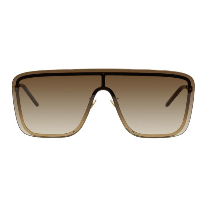 Photo: Saint Laurent Gold Mask SL 364 Sunglasses