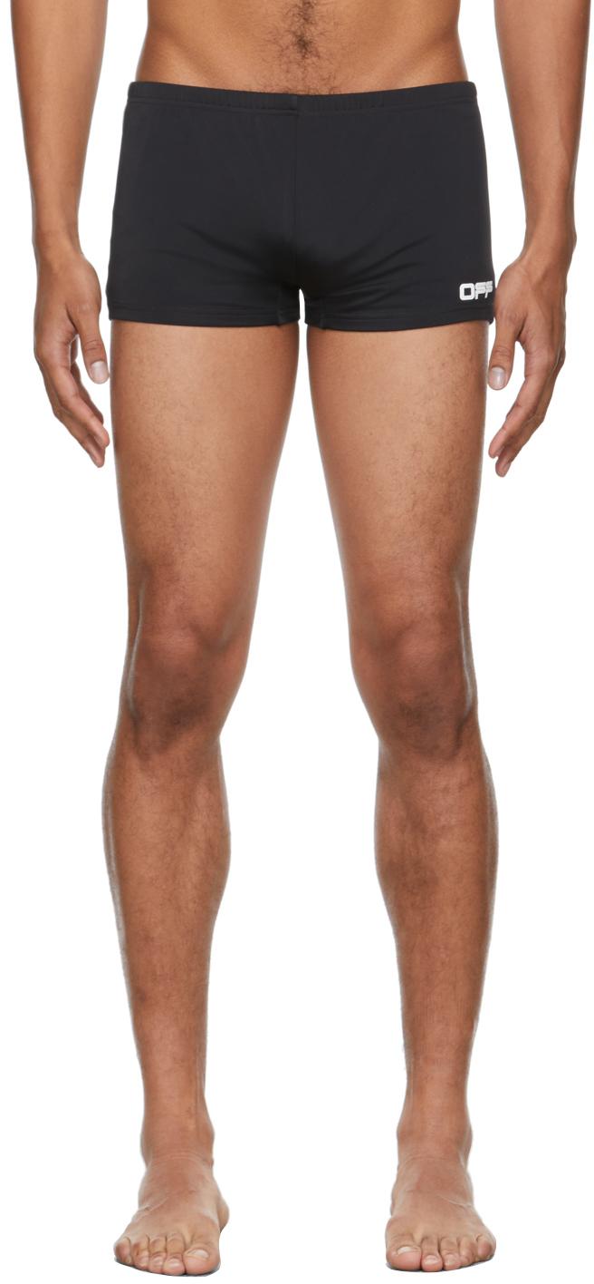 Photo: Off-White Black & White Logo Active Swim Shorts