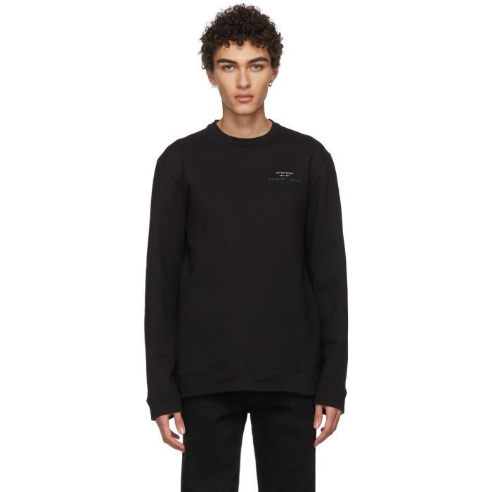 Raf Simons Black Joy Division Print Sweatshirt