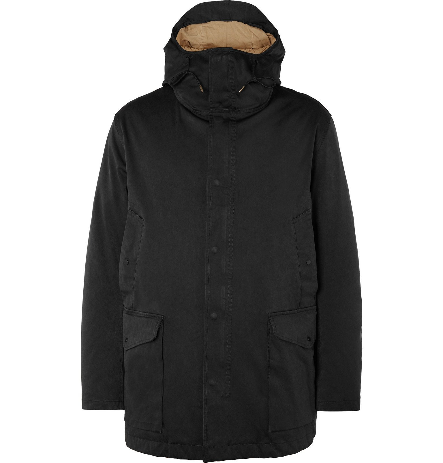 Photo: Ten C - Canon Microfibre Hooded Down Jacket - Black