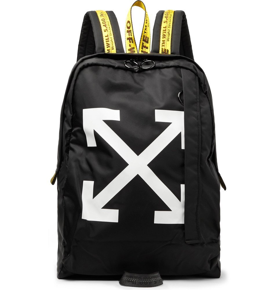 Photo: Off-White - Easy Logo-Print Canvas Backpack - Black