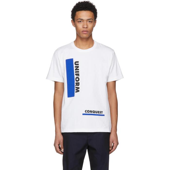 Sacai White Uniform Conquest T-Shirt