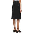 3.1 Phillip Lim Black Twill High-Waisted Woolmark Skirt
