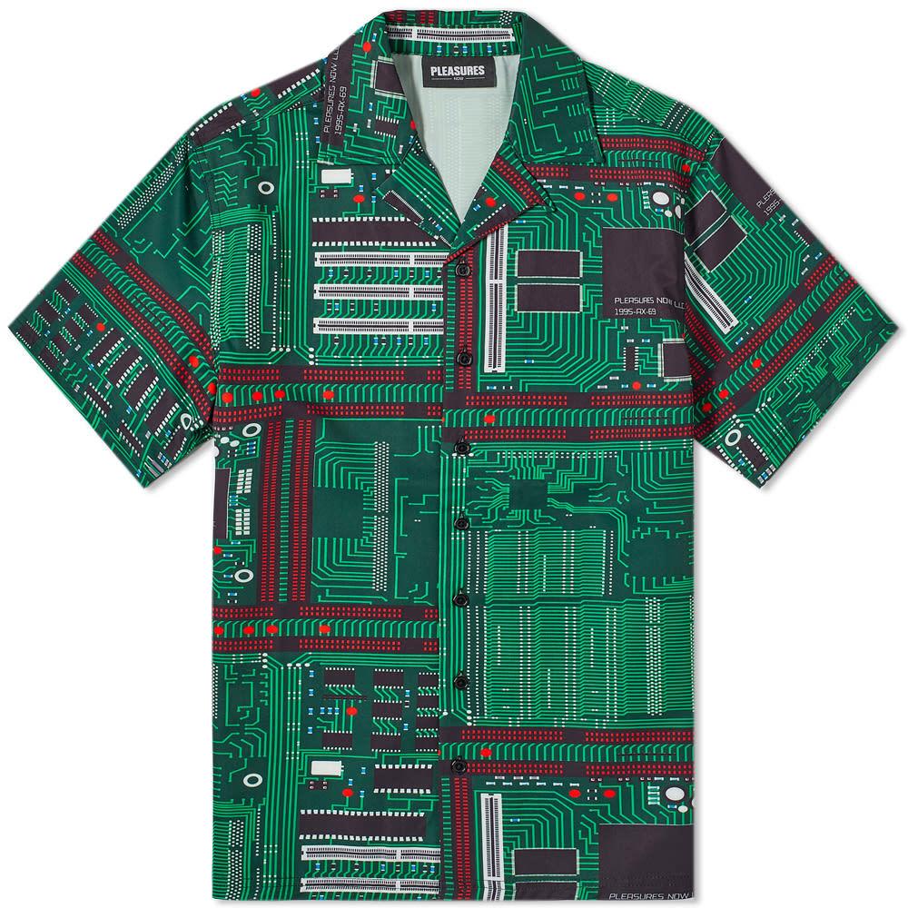 Photo: PLEASURES Motherboard Rayon Vacation Shirt