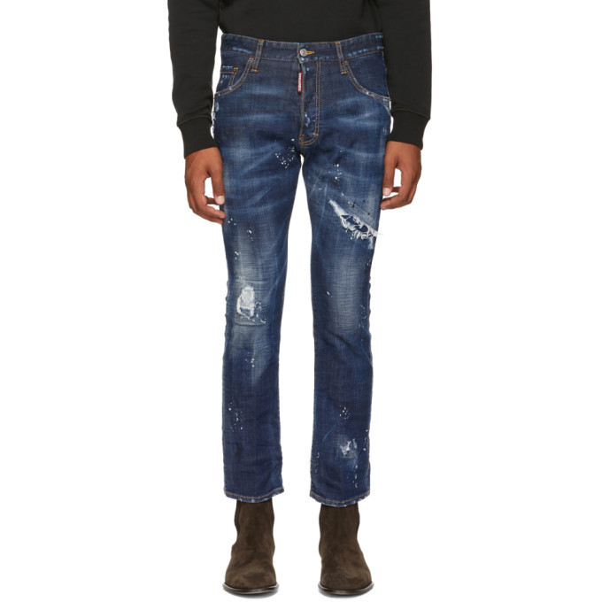 Photo: Dsquared2 Blue Cropped Flare Jeans
