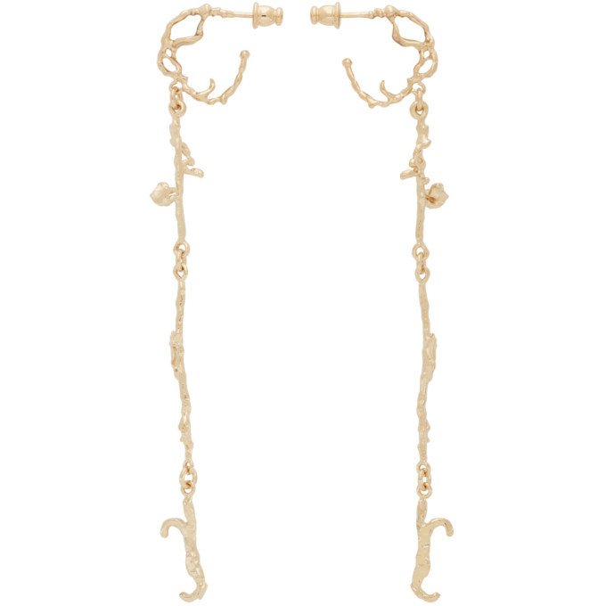 Photo: Lemaire Gold Short Twig Creole Earrings