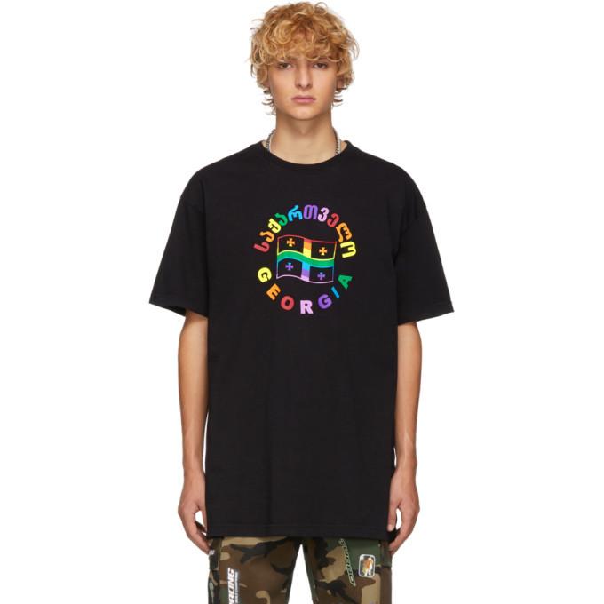 Photo: Vetements Black Rainbow Flag T-Shirt