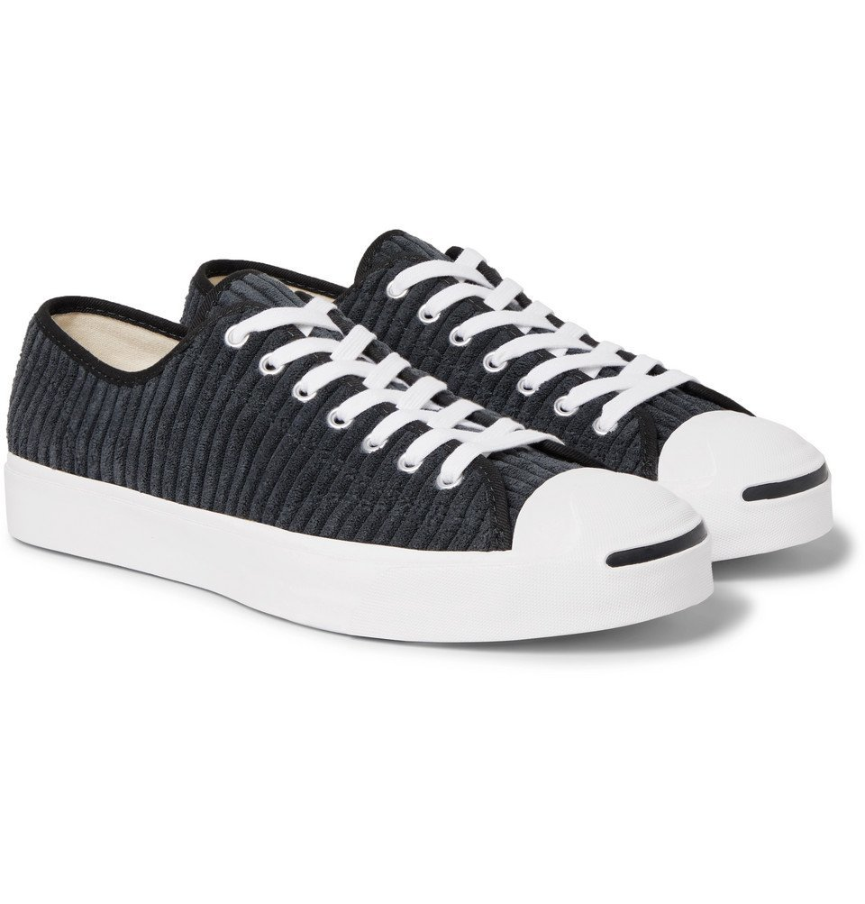 Photo: Converse - Jack Purcell OX Rubber-Trimmed Corduroy Sneakers - Black