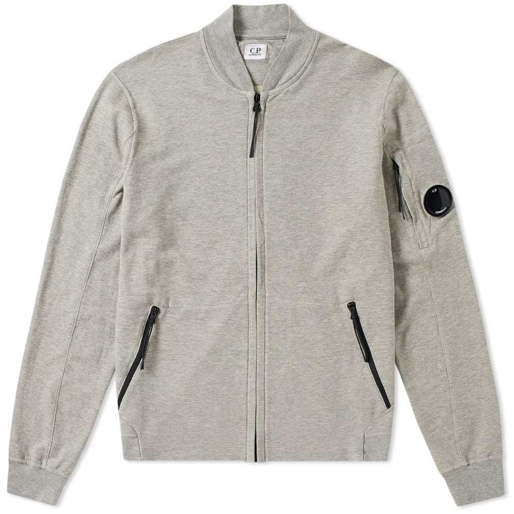 C.P. Company Garment Dyed Light Fleece Bomber Grey