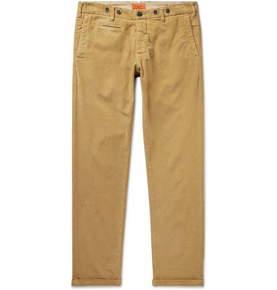 Photo: Barena - Rampin Cotton-Blend Corduroy Trousers - Beige