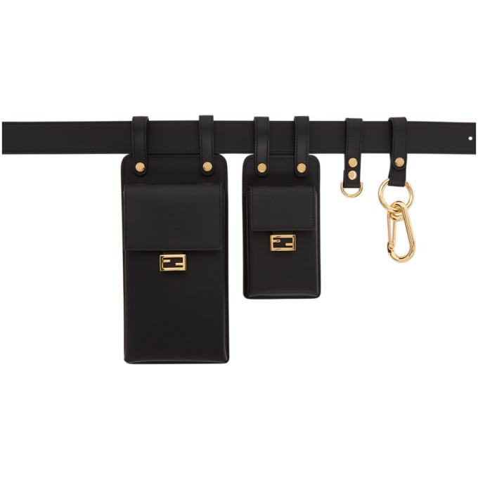 Photo: Fendi Black Multi-Accessory Belt