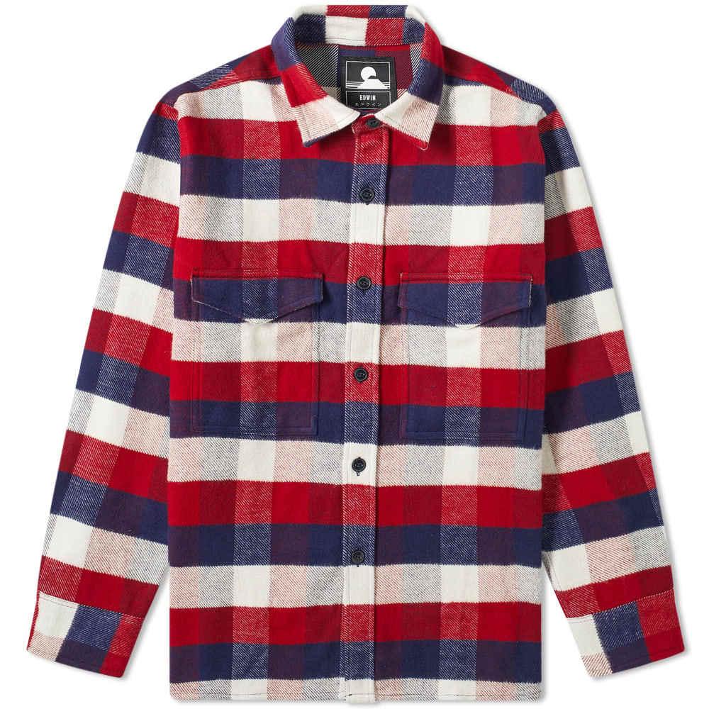 Edwin Buffalo Check Big Shirt