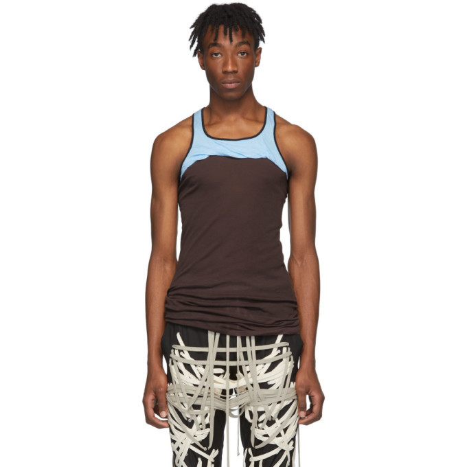 Photo: Rick Owens Burgundy and Blue Release Combo Tank Top