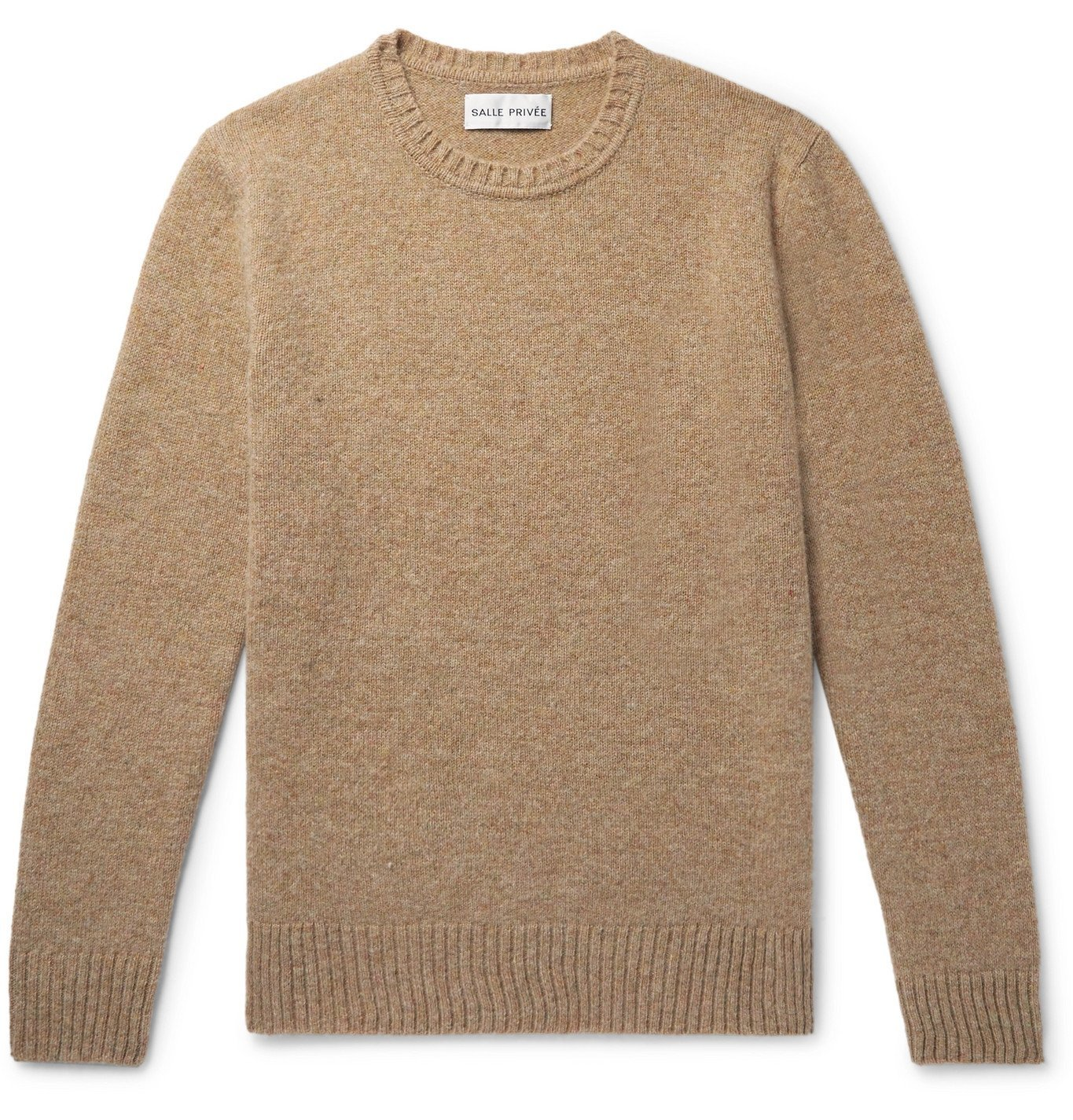 Photo: SALLE PRIVÉE - Aren Mélange Shetland Wool Sweater - Neutrals