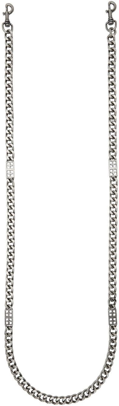 Photo: Ksubi Black 1999 Signature Chain Strap Keychain