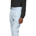 3.1 Phillip Lim Blue Relaxed Pleated Trousers