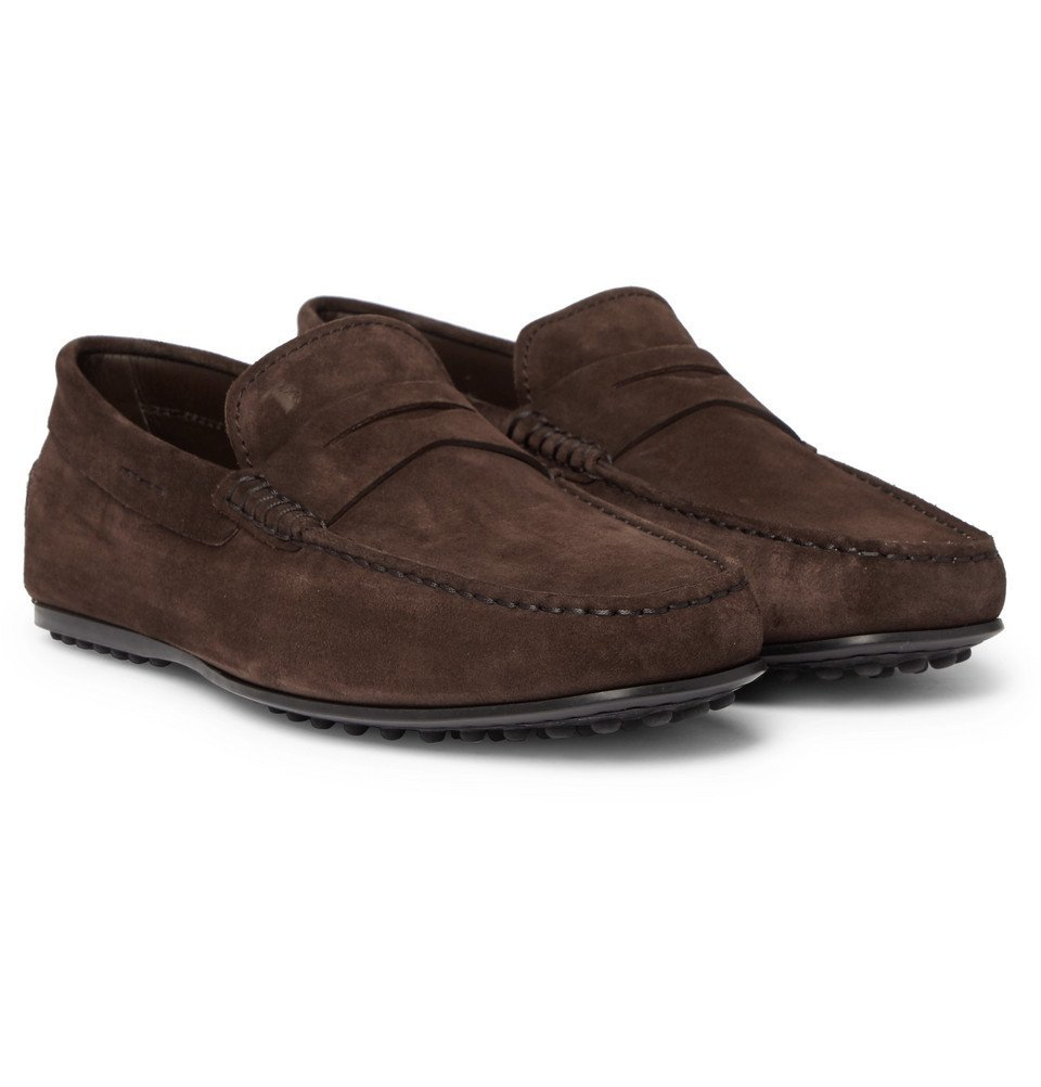 Tod's - Gommino Suede Driving Shoes - Men - Brown