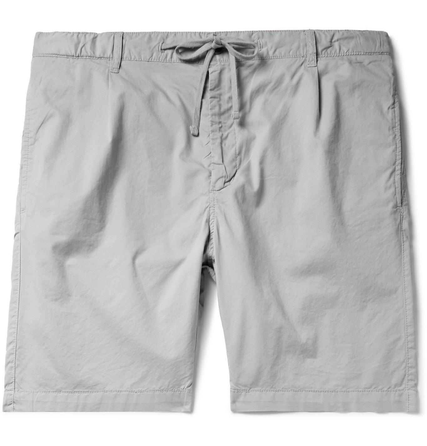 Photo: Hartford - Pleated Cotton Drawstring Shorts - Gray