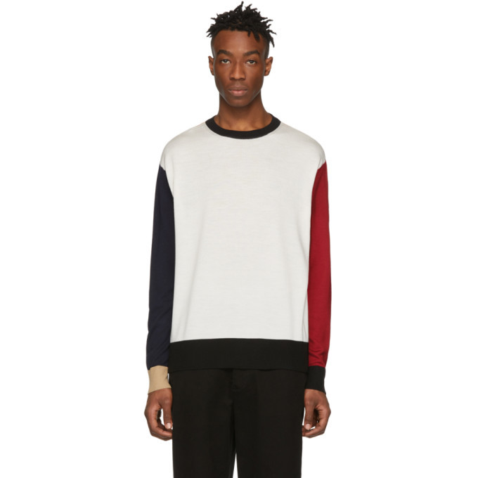 Photo: 424 Multicolor Wool Colorblock Sweater