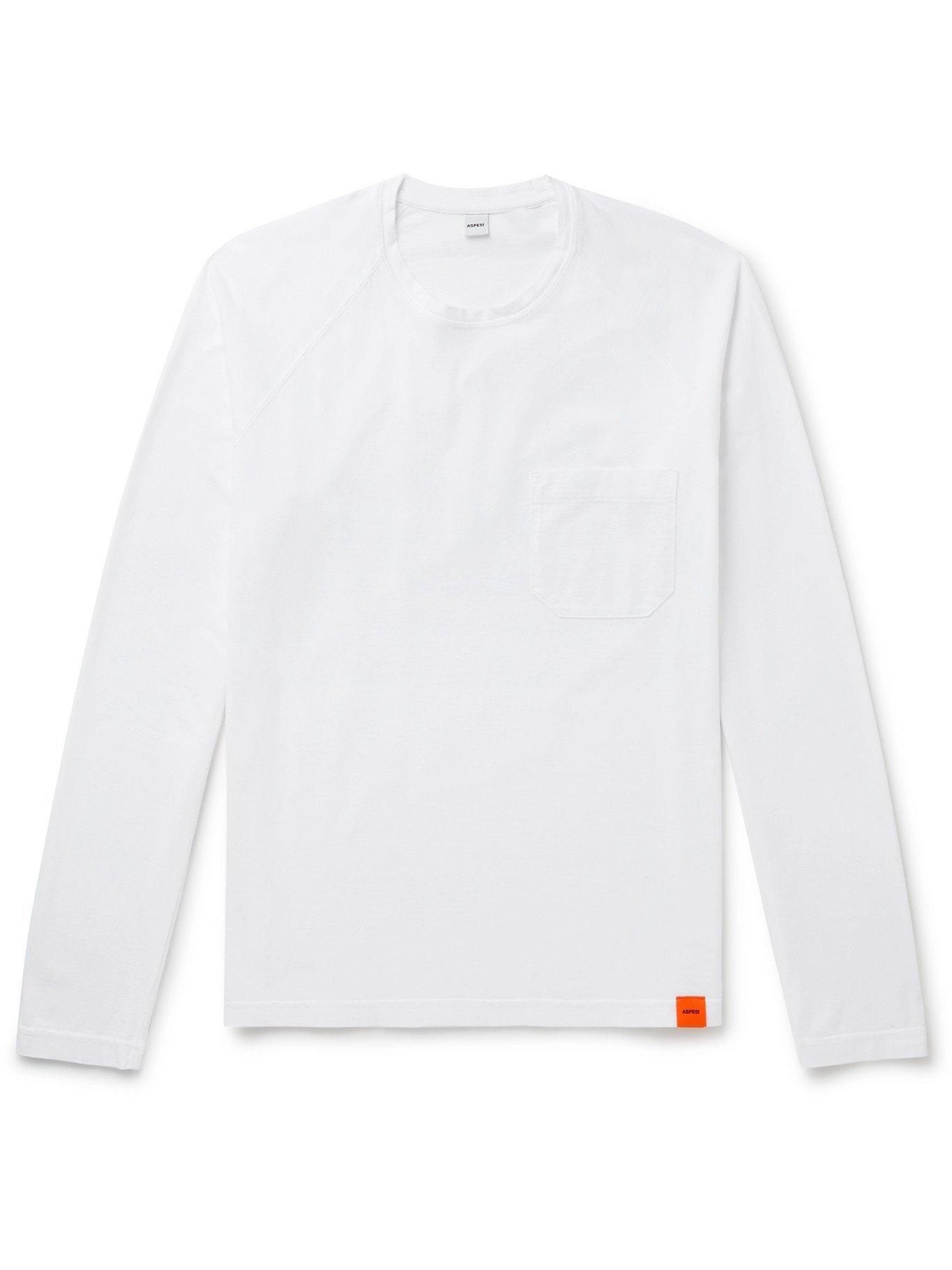 Photo: ASPESI - Cotton-Jersey T-Shirt - White - XS