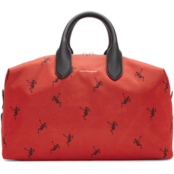 Photo: Alexander McQueen Red Medium Holdall Duffle Bag