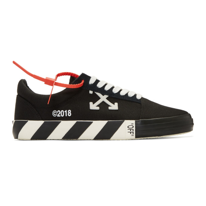 Photo: Off-White Black Vulc Sneakers