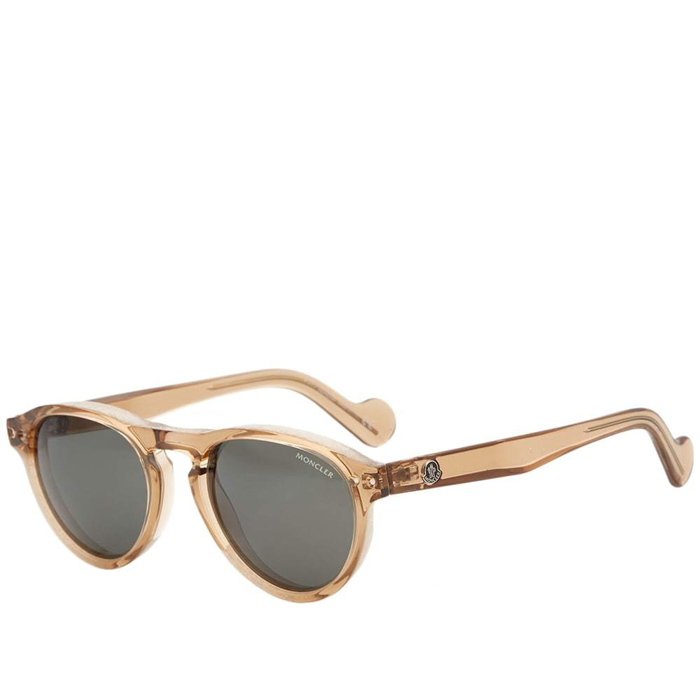 Photo: Moncler ML0038 Sunglasses Light Brown & Green