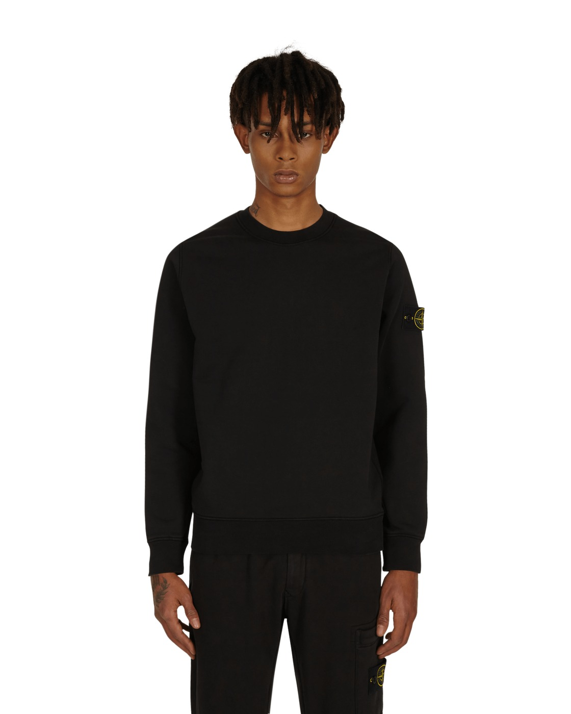 Stone Island Basic Crewneck Sweatshirt Black