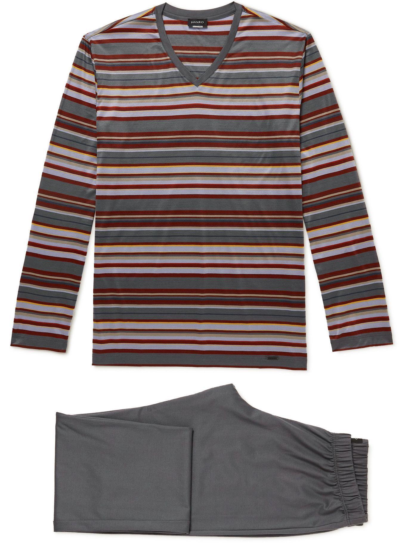 Photo: Hanro - Striped Cotton-Jersey Pyjama Set - Multi