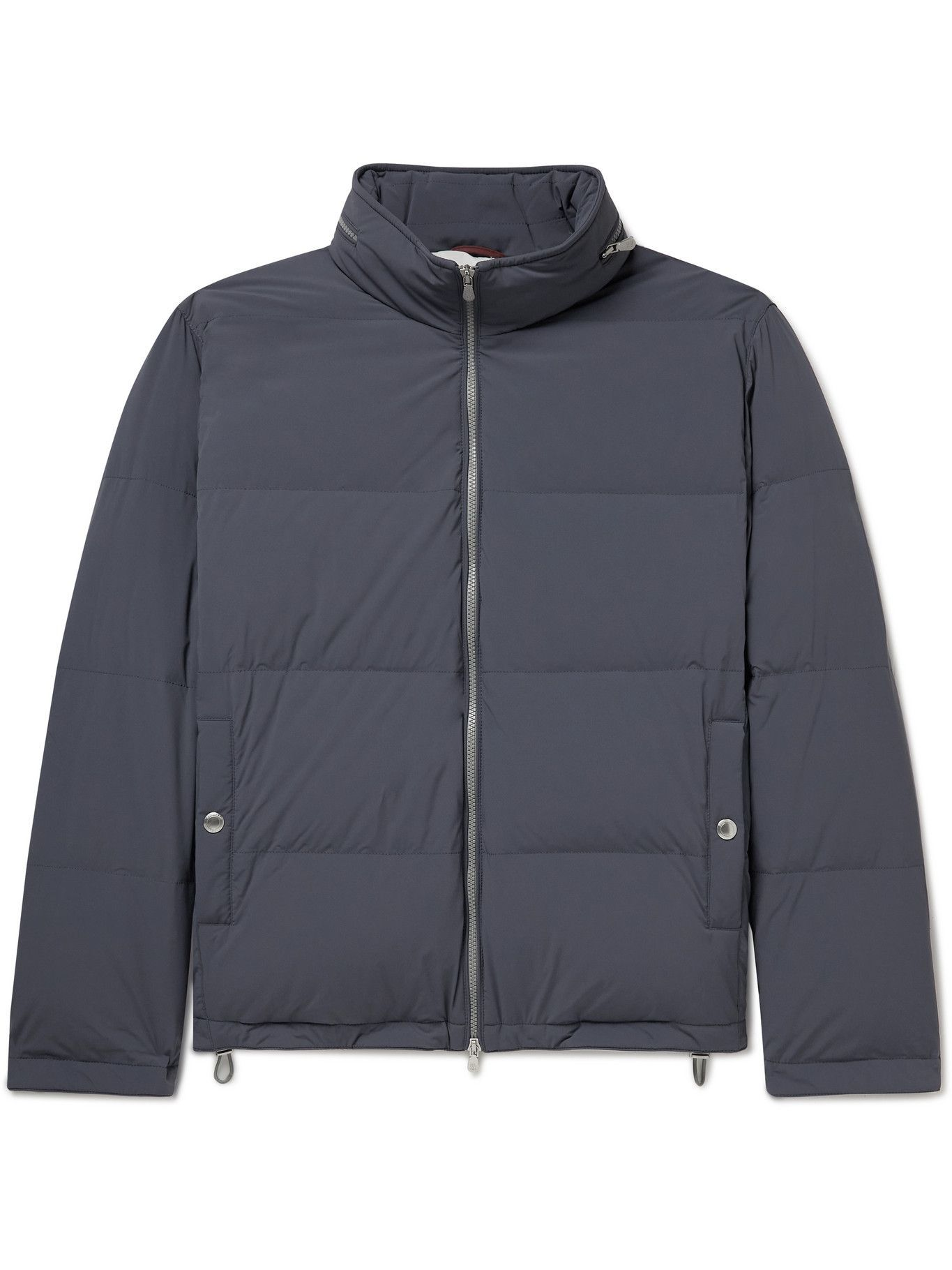 Photo: BRUNELLO CUCINELLI - Oversized Quilted Shell Hooded Down Jacket - Blue