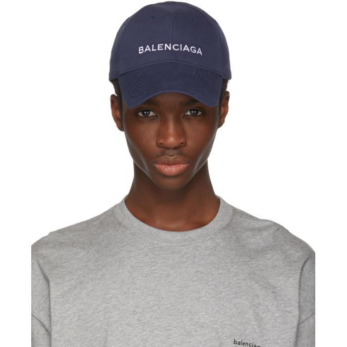 Photo: Balenciaga Blue Logo Cap