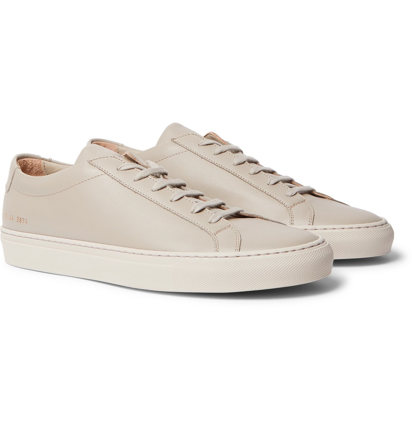 Common Projects - Original Achilles Saffiano Leather Sneakers - Gray