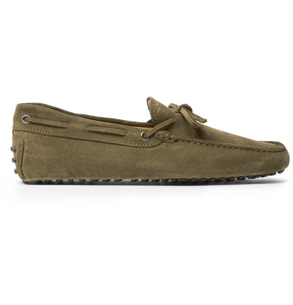 Tod's - Gommino Suede Driving Shoes - Men - Green