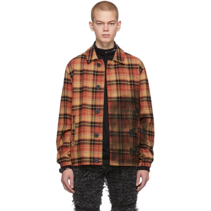 1017 ALYX 9SM Orange Gradient Plaid Blazer Shirt