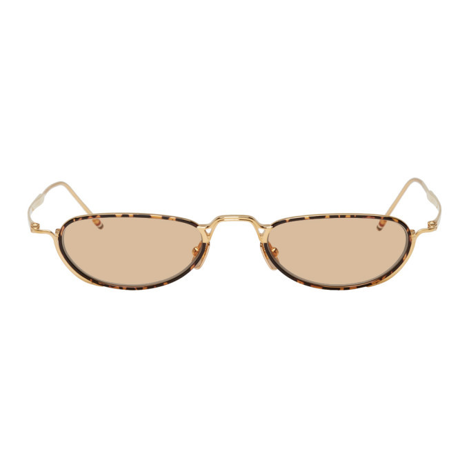 Photo: Thom Browne Gold TB-913 Sunglasses